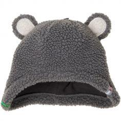 Bonnet hiver ours gris Teddy (3-6 mois)