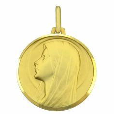 Médaille ronde Vierge profil 20 mm (or jaune 750°)
