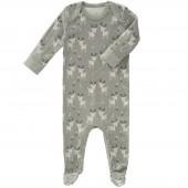 Pyjama léger Forêt des cerfs kaki (naissance : 50 cm) - Fresk