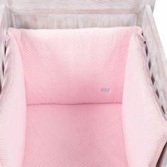 Tour de lit Beryl rose (pour lits 60 x 120 cm et 70 x 140 cm)