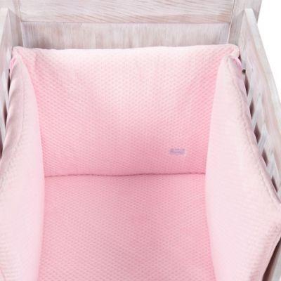 Tour de lit Beryl rose (pour lits 60 x 120 cm et 70 x 140 cm)  par Nougatine