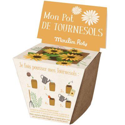 Pot de graines tournesol Le Jardin du Moulin  par Moulin Roty