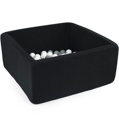 Piscine à balles carrée noire personnalisable (90 x 90 x 40 cm)