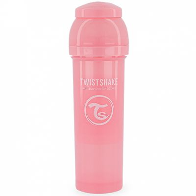 Biberon anti-colique rose pastel (330 ml)  par Twistshake
