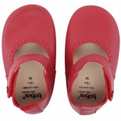 Chaussons en cuir Soft soles rouge Mary Jane (15-21 mois) - Bobux
