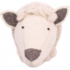 Trophée mouton Zoo blanc et marron