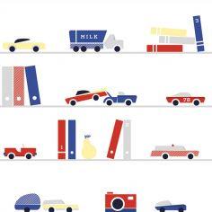 Papier peint intissé voitures et camions vintage (10 m)