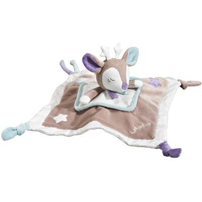 Doudou plat faon Noisette (34 cm) Sauthon Baby Déco