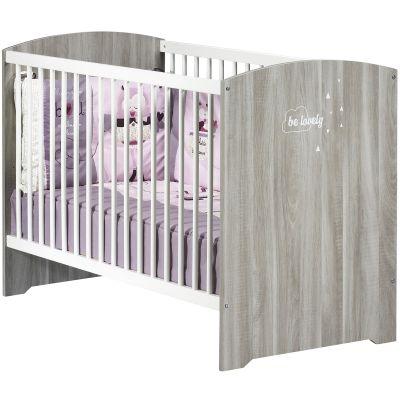 Lit bébé Smile chêne silex (60 x 120 cm)  par Baby Price