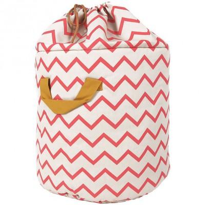 sac jouets baobab zigzag rose nobodinoz. Black Bedroom Furniture Sets. Home Design Ideas