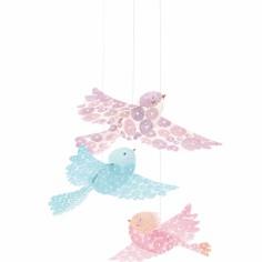 Mobile Oiseaux paillettes