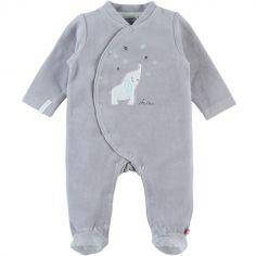 Pyjama chaud gris Eléphant Anna & Milo (3 mois)