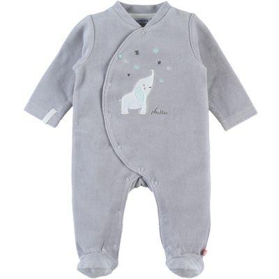 Pyjama chaud gris Eléphant Anna & Milo (3 mois)  par Noukie's