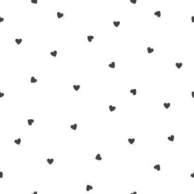 Papier peint intissé Minima black hearts (10 m) Lilipinso
