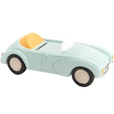Tirelire voiture bleue (14 cm)  par Amadeus Les Petits