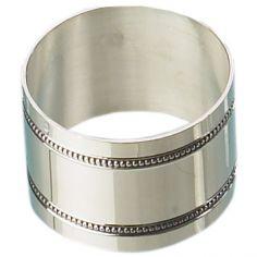 Rond de serviette Perles personnalisable (métal argenté)