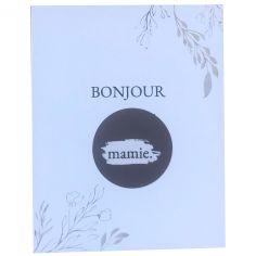 Carte annonce de grossesse à gratter Bonjour Mamie (8 x 10 cm)