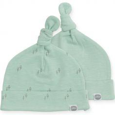Lot de 2 bonnets Forest vert (0-6 mois)
