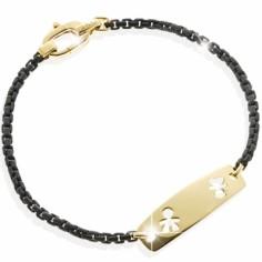Bracelet papa Daddy fille et garçon ajouré (or jaune 375°)