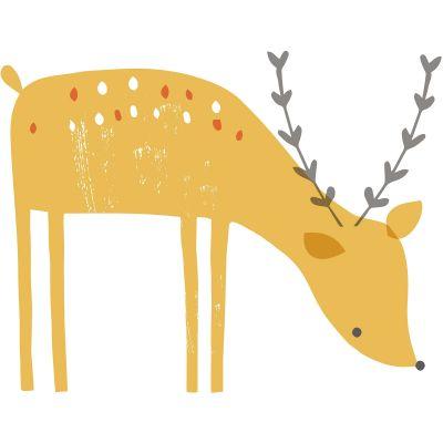 Sticker faon Woodland by Lizzie Mackay  par Lilipinso