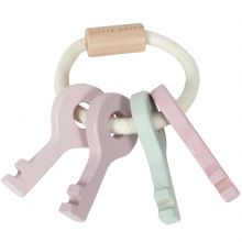 Trousseau de clés en bois Adventure pink  par Little Dutch
