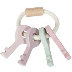 Trousseau de clés en bois Adventure pink