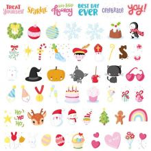 Assortiment de motifs pour lightbox Let's celebrate  par A Little Lovely Company
