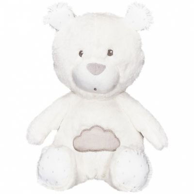 Peluche ours blanc Lily grey (31 cm)