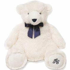 Peluche Jean l'ours blanc (30 cm)