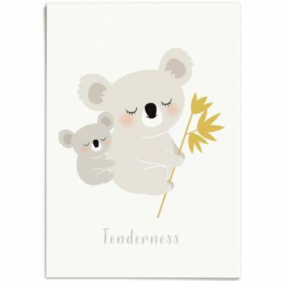 Affiche A3 koala Tenderness  par Zü