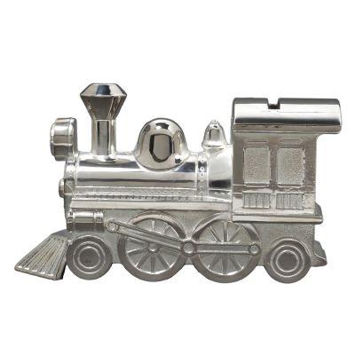 Tirelire Locomotive personnalisable (métal argenté)  par Daniel Crégut