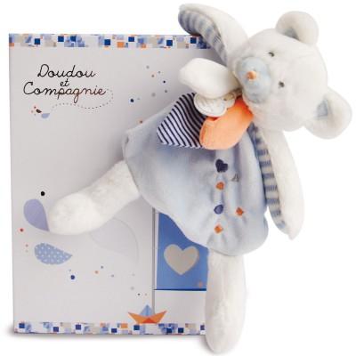 Doudou plat ours Les Gommettes (21 cm) Doudou et Compagnie