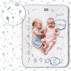 Couverture étapes de bébé Minty white
