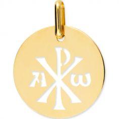 Médaille Chrisme ajouré (or jaune 375°)