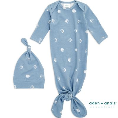 Body combi à nouer + bonnet Blue Moon (0-3 mois)  par aden + anais