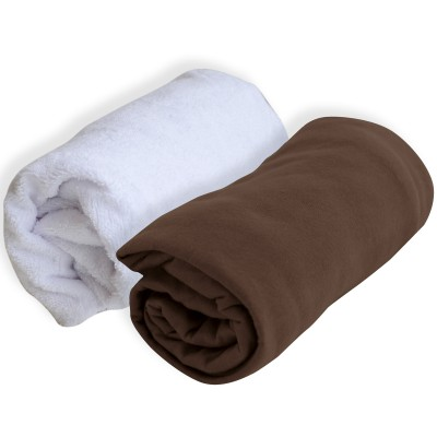 lot 1 alse et 1 drap housse marron 60 x 120 cm doux nid. Black Bedroom Furniture Sets. Home Design Ideas