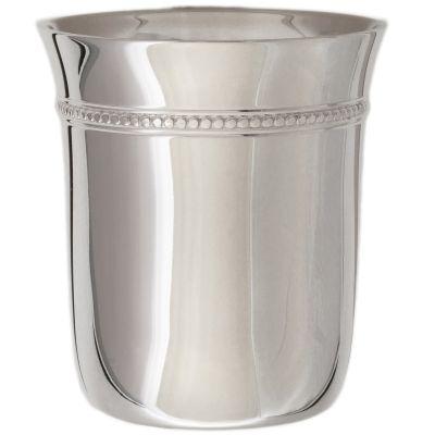 Timbale Perles B en métal argenté dans son coffret (personnalisable)  par Daniel Crégut