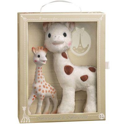 Coffret peluche Sophie Chérie et hochet Il était une fois Sophie la Girafe