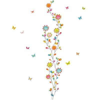 Stickers muraux Fleurs en farandole  par Série-Golo