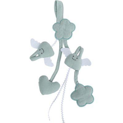 Jouet à suspendre en coton bio celadon (20 cm)  par Trousselier