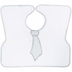 Bavoir tablier Cravate gris
