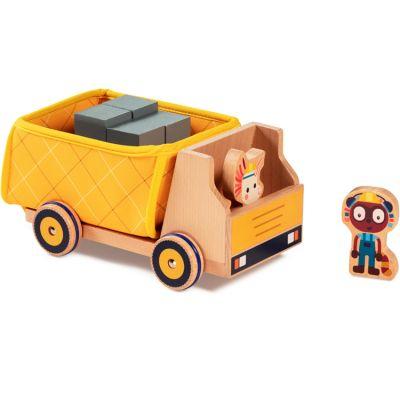 Camion benne et figurines en bois  par Lilliputiens