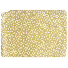 Couverture en coton jaune Diabolo (75 x 100 cm)