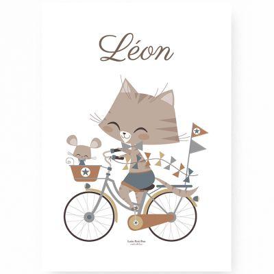 Affiche A4 Marius & Souriceau (Personnalisable)  par Lutin Petit Pois