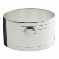 Rond de serviette Coquille (métal argenté)