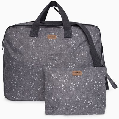 Valise Pop up Weekend Constellation Etoile grise  par Tuc Tuc