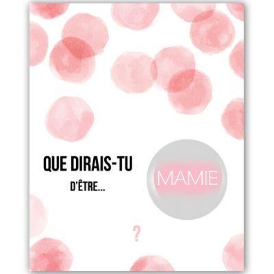 Carte à gratter Annonce de grossesse Aquarelle Mamie (8 x 10 cm)