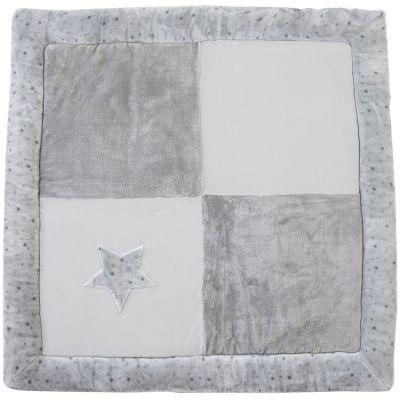 Tapis de parc étoiles grises (100 x 100 cm)  par Domiva