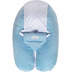 Coussin de maternité Multirelax évolutif velours bleu céladon