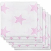 Lot de 6 langes hydrophiles Little star étoile rose (70 x 70 cm) - Jollein